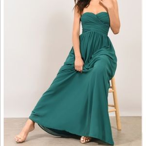 Tobi - GO GLAM EMERALD STRAPLESS MAXI DRESS